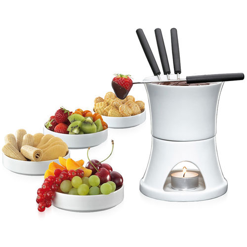 Cilio - Chocolate fondue set 10 pieces